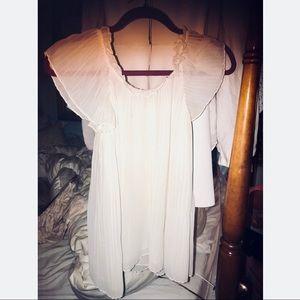 Joie white silk tulle chiffon top size S